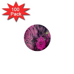 Oil Painting Flowers Background 1  Mini Buttons (100 Pack)  by Nexatart