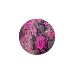 Oil Painting Flowers Background Golf Ball Marker (4 Pack) by Nexatart
