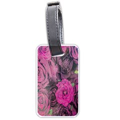 Oil Painting Flowers Background Luggage Tags (one Side)  by Nexatart