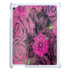 Oil Painting Flowers Background Apple Ipad 2 Case (white) by Nexatart