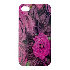 Oil Painting Flowers Background Apple Iphone 4/4s Premium Hardshell Case