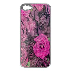 Oil Painting Flowers Background Apple Iphone 5 Case (silver)