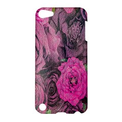 Oil Painting Flowers Background Apple Ipod Touch 5 Hardshell Case by Nexatart