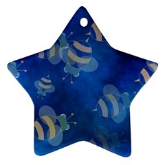 Seamless Bee Tile Cartoon Tilable Design Star Ornament (two Sides)