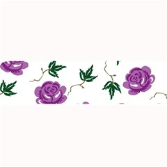Purple Roses Pattern Wallpaper Background Seamless Design Illustration Large Bar Mats by Nexatart