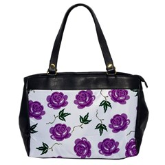 Purple Roses Pattern Wallpaper Background Seamless Design Illustration Office Handbags by Nexatart