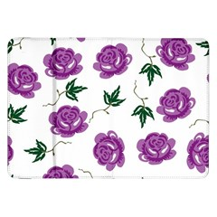 Purple Roses Pattern Wallpaper Background Seamless Design Illustration Samsung Galaxy Tab 8 9  P7300 Flip Case