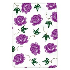 Purple Roses Pattern Wallpaper Background Seamless Design Illustration Flap Covers (l)  by Nexatart