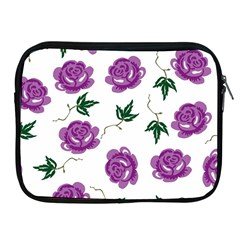 Purple Roses Pattern Wallpaper Background Seamless Design Illustration Apple Ipad 2/3/4 Zipper Cases by Nexatart