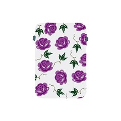 Purple Roses Pattern Wallpaper Background Seamless Design Illustration Apple Ipad Mini Protective Soft Cases by Nexatart