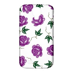 Purple Roses Pattern Wallpaper Background Seamless Design Illustration Samsung Galaxy S4 Classic Hardshell Case (pc+silicone)