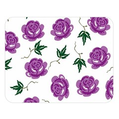 Purple Roses Pattern Wallpaper Background Seamless Design Illustration Double Sided Flano Blanket (large)  by Nexatart