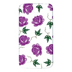 Purple Roses Pattern Wallpaper Background Seamless Design Illustration Samsung Galaxy Mega I9200 Hardshell Back Case