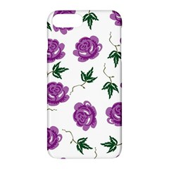 Purple Roses Pattern Wallpaper Background Seamless Design Illustration Apple Iphone 7 Plus Hardshell Case by Nexatart
