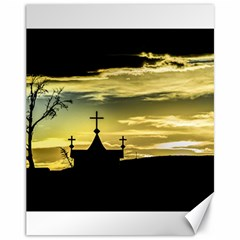 Graves At Side Of Road In Santa Cruz, Argentina Canvas 11  X 14   by dflcprints