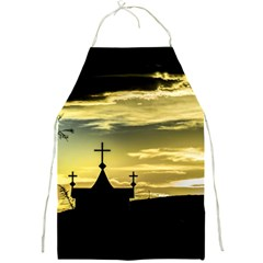 Graves At Side Of Road In Santa Cruz, Argentina Full Print Aprons by dflcprints