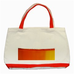 The Wine Bubbles Background Classic Tote Bag (red) by Nexatart