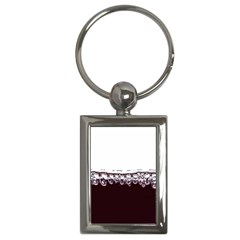 Bubbles In Red Wine Key Chains (rectangle)  by Nexatart