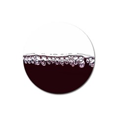 Bubbles In Red Wine Magnet 3  (round) by Nexatart