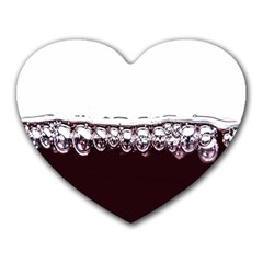 Bubbles In Red Wine Heart Mousepads by Nexatart
