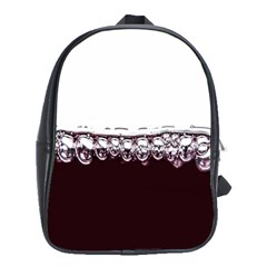 Bubbles In Red Wine School Bags(large)  by Nexatart