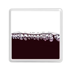 Bubbles In Red Wine Memory Card Reader (square)  by Nexatart