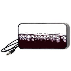 Bubbles In Red Wine Portable Speaker (black) by Nexatart