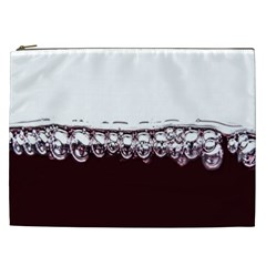 Bubbles In Red Wine Cosmetic Bag (xxl)  by Nexatart