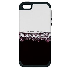 Bubbles In Red Wine Apple Iphone 5 Hardshell Case (pc+silicone) by Nexatart