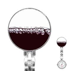 Bubbles In Red Wine Stainless Steel Nurses Watch by Nexatart