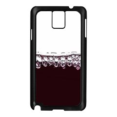Bubbles In Red Wine Samsung Galaxy Note 3 N9005 Case (black) by Nexatart