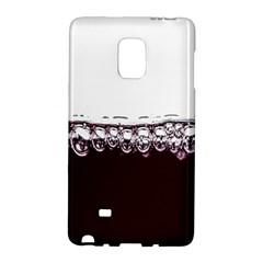Bubbles In Red Wine Galaxy Note Edge by Nexatart