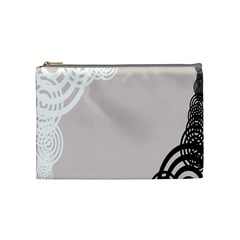 Circles Background Cosmetic Bag (medium)