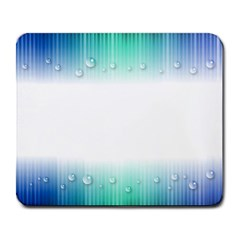 Blue Stripe With Water Droplets Large Mousepads by Nexatart