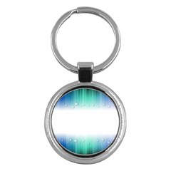 Blue Stripe With Water Droplets Key Chains (round)  by Nexatart