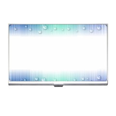 Blue Stripe With Water Droplets Business Card Holders by Nexatart