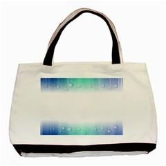 Blue Stripe With Water Droplets Basic Tote Bag (two Sides) by Nexatart