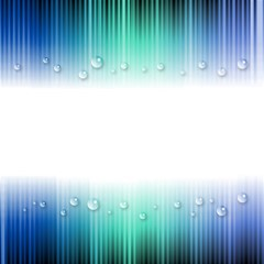 Blue Stripe With Water Droplets Magic Photo Cubes by Nexatart