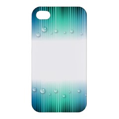 Blue Stripe With Water Droplets Apple Iphone 4/4s Premium Hardshell Case