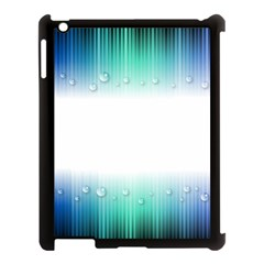 Blue Stripe With Water Droplets Apple Ipad 3/4 Case (black) by Nexatart