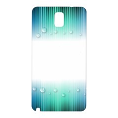 Blue Stripe With Water Droplets Samsung Galaxy Note 3 N9005 Hardshell Back Case