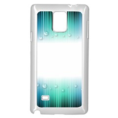 Blue Stripe With Water Droplets Samsung Galaxy Note 4 Case (white)