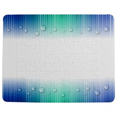 Blue Stripe With Water Droplets Jigsaw Puzzle Photo Stand (rectangular)