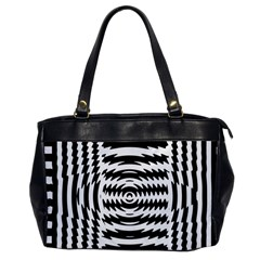 Black And White Abstract Stripped Geometric Background Office Handbags by Nexatart