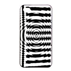 Black And White Abstract Stripped Geometric Background Apple Iphone 4/4s Seamless Case (black) by Nexatart