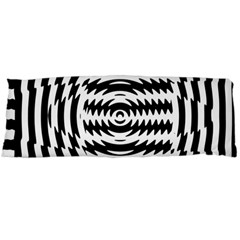 Black And White Abstract Stripped Geometric Background Body Pillow Case Dakimakura (two Sides)