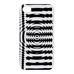 Black And White Abstract Stripped Geometric Background Apple Iphone 4/4s Premium Hardshell Case