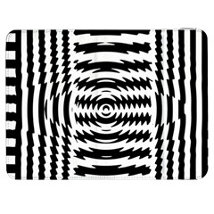 Black And White Abstract Stripped Geometric Background Samsung Galaxy Tab 7  P1000 Flip Case by Nexatart