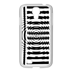 Black And White Abstract Stripped Geometric Background Samsung Galaxy S4 I9500/ I9505 Case (white)