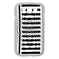 Black And White Abstract Stripped Geometric Background Samsung Galaxy Grand Duos I9082 Case (white) by Nexatart